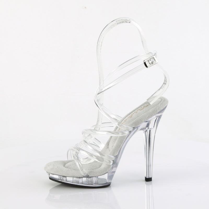 Lip 106 Clear Criss-Cross Sandals
