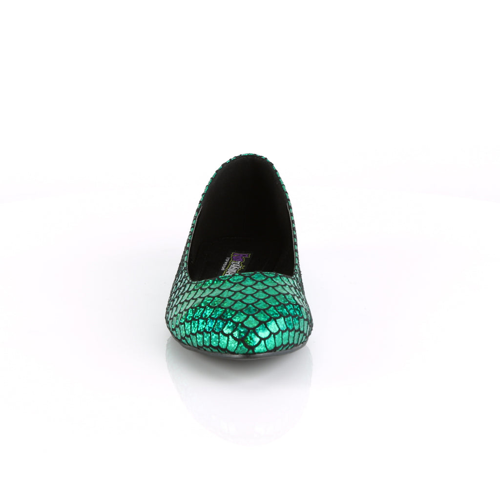 Mermaid 21 Green Scaled Flats