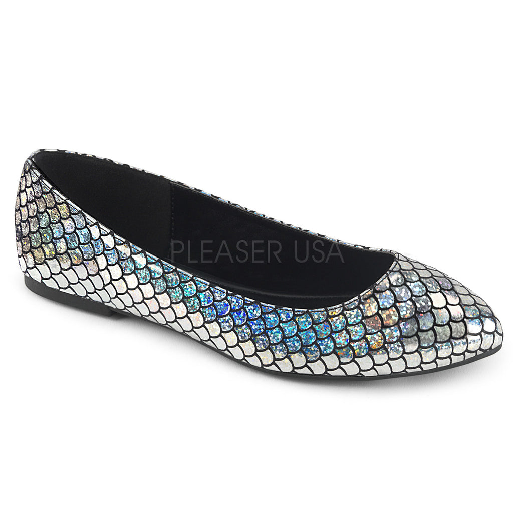 Mermaid 21 Silver Scaled Flats