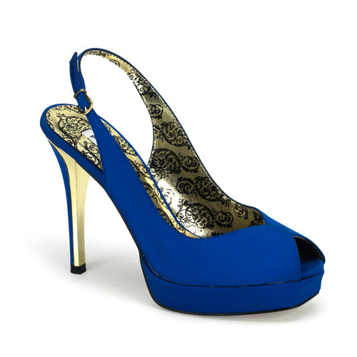 Pleaser Shoes Peony-03 Blue