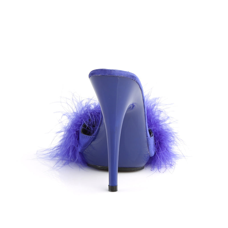 Poise 501F Blue Furry Sandals