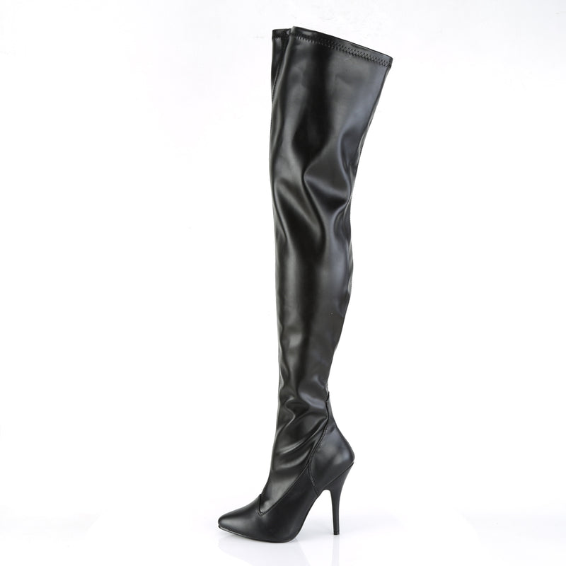 Seduce 3000 Black Matte Thigh High Boots