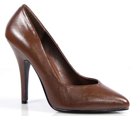 Pleaser Shoes Seduce-420 Brown Leather