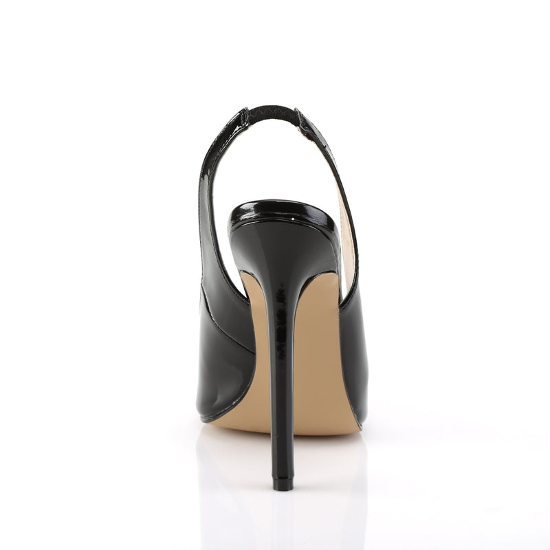 Sexy 08 Black Slingback Sandals