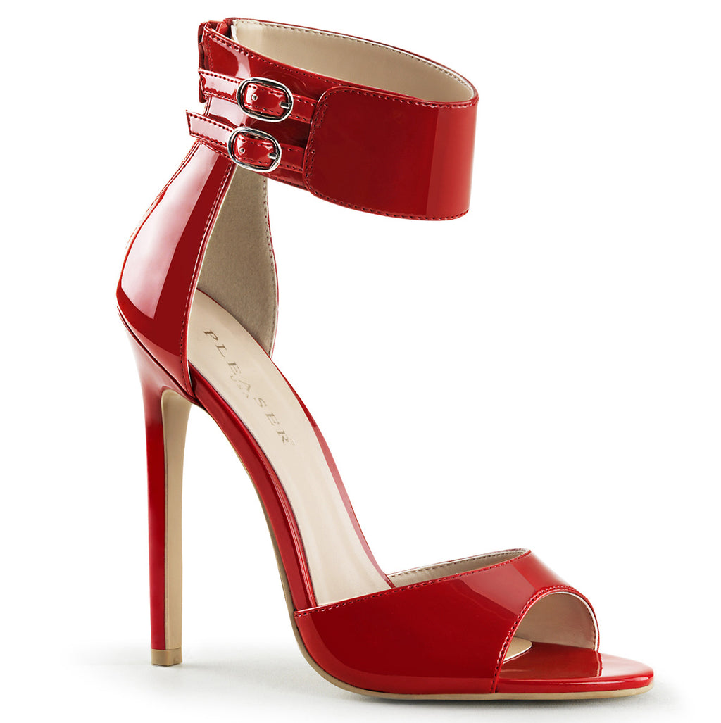 Sexy 19 Red Patent Wide Ankle Strap Sandals