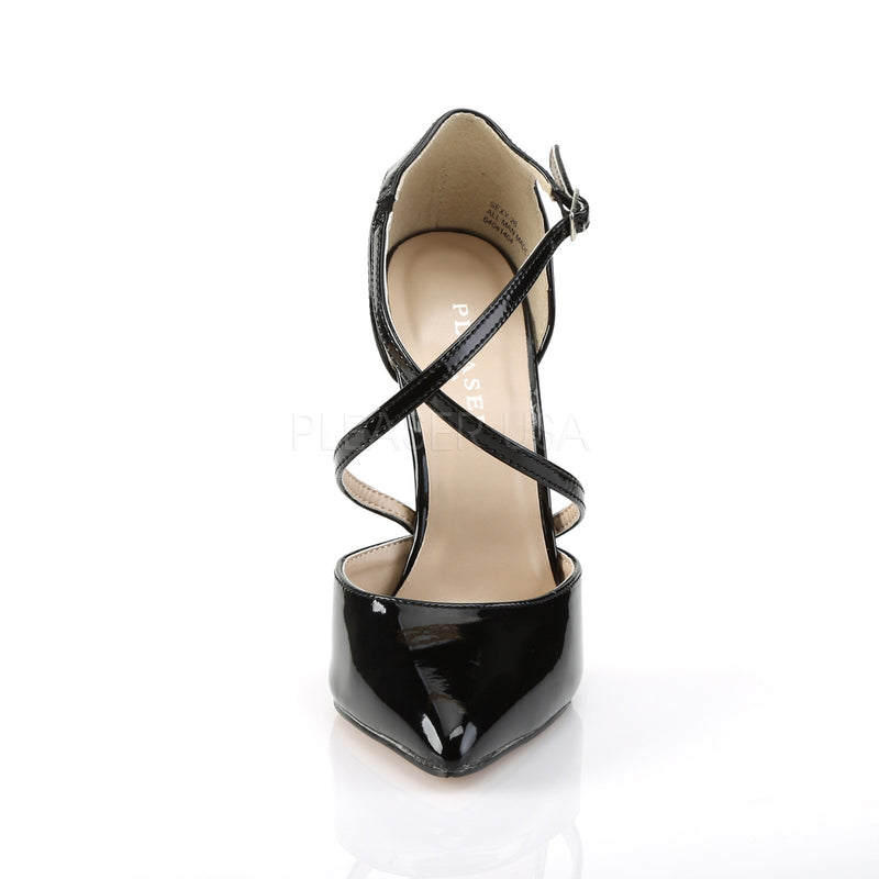 Sexy 26 Black Patent Strappy Stilettos