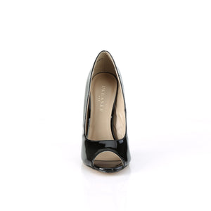 Sexy 42 Black Patent Peep Toe Pumps