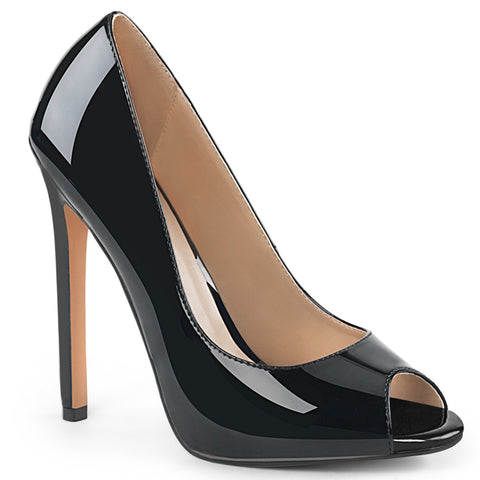 Vanity 420 Black Leather Classic Pumps