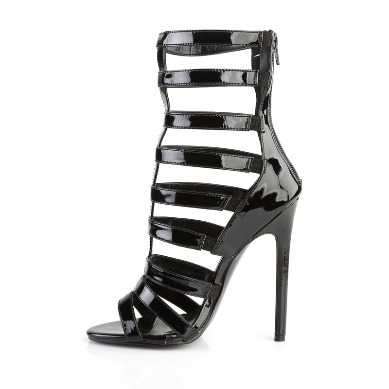 Sexy 52 Black Patent Caged Heels