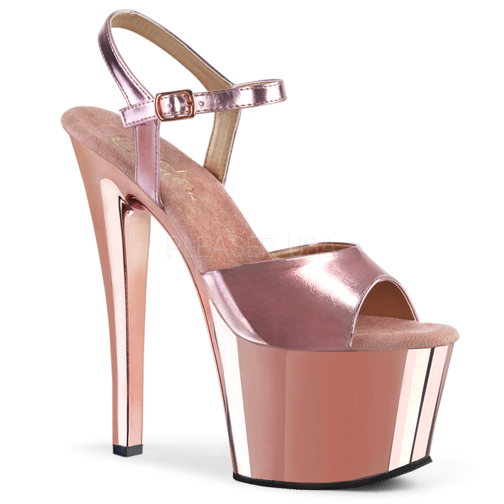 Sky 309 Rose Gold Chrome Platforms