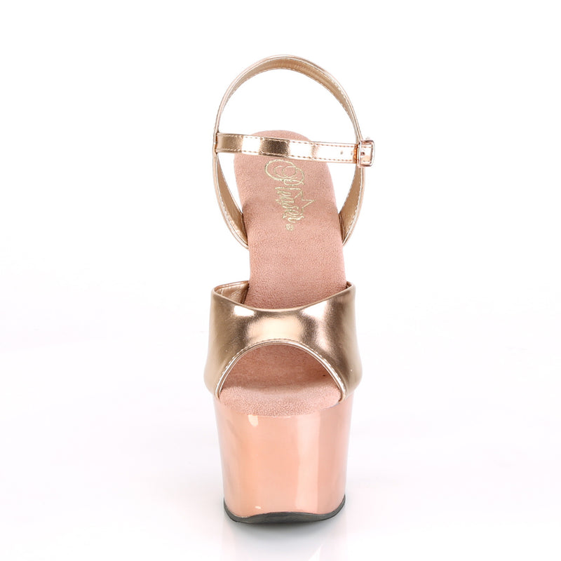 Sky 309TTG Rose Gold Chrome Platforms