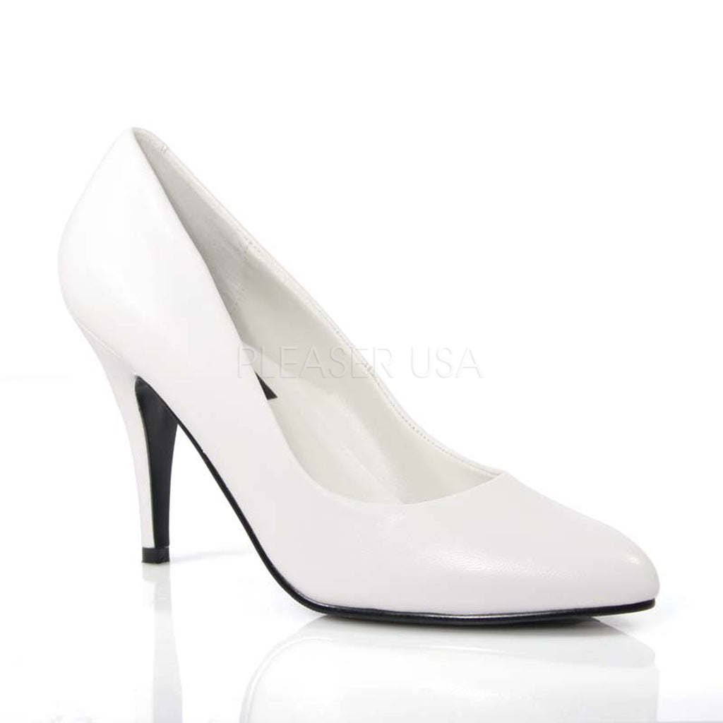 Vanity 420 White Leather Pumps