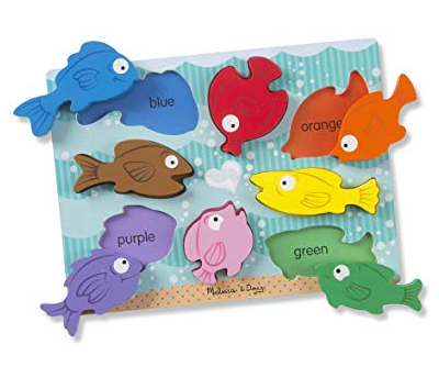 MD Wooden Chunky Puzzle - Colourful Fish