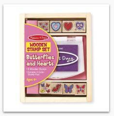MD Butterfly and Hearts Stamp Set