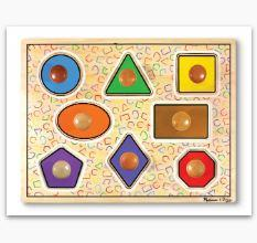 MD Large Shapes Jumbo Knob Puzzle - 8 pi