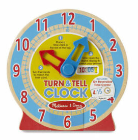 MD Turn & Tell Wooden Clock