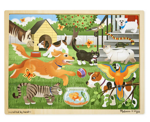MD Pets Wooden Jigsaw Puzzle - 24 Pieces