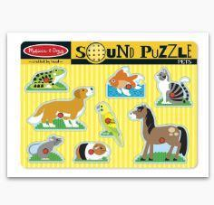 MD Pets Sound Puzzle - 8 Kubbar