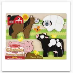 MD Chunky Jigsaw Puzzle - Farm Animals