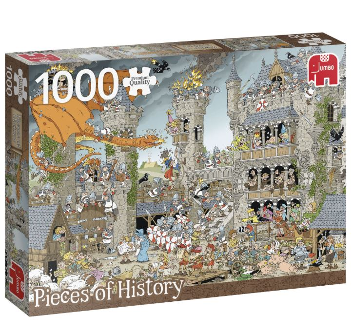 Púsl JUMBO pcs of history: The castle