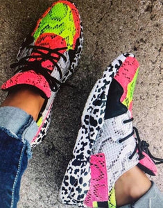 Snake Print Tennis Shoes