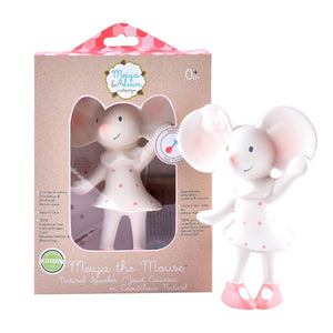 Meiya the Mouse all Rubber Baby Squeaker - Tikiri Toys