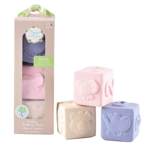 Meiya And Alvin Rubber Baby Activity Cube Set - Tikiri Toys