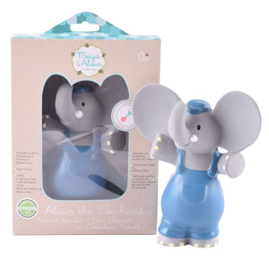 Alvin the Elephant all Rubber Rattle Toy - Meiya and Alvin