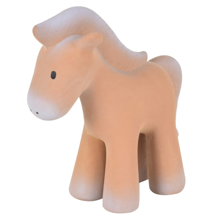 Horse - Natural Rubber Baby Rattle & Bath Toy - Tikiri Toys