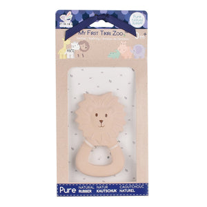 Lion  - Natural Rubber Baby Teether - Tikiri Toys