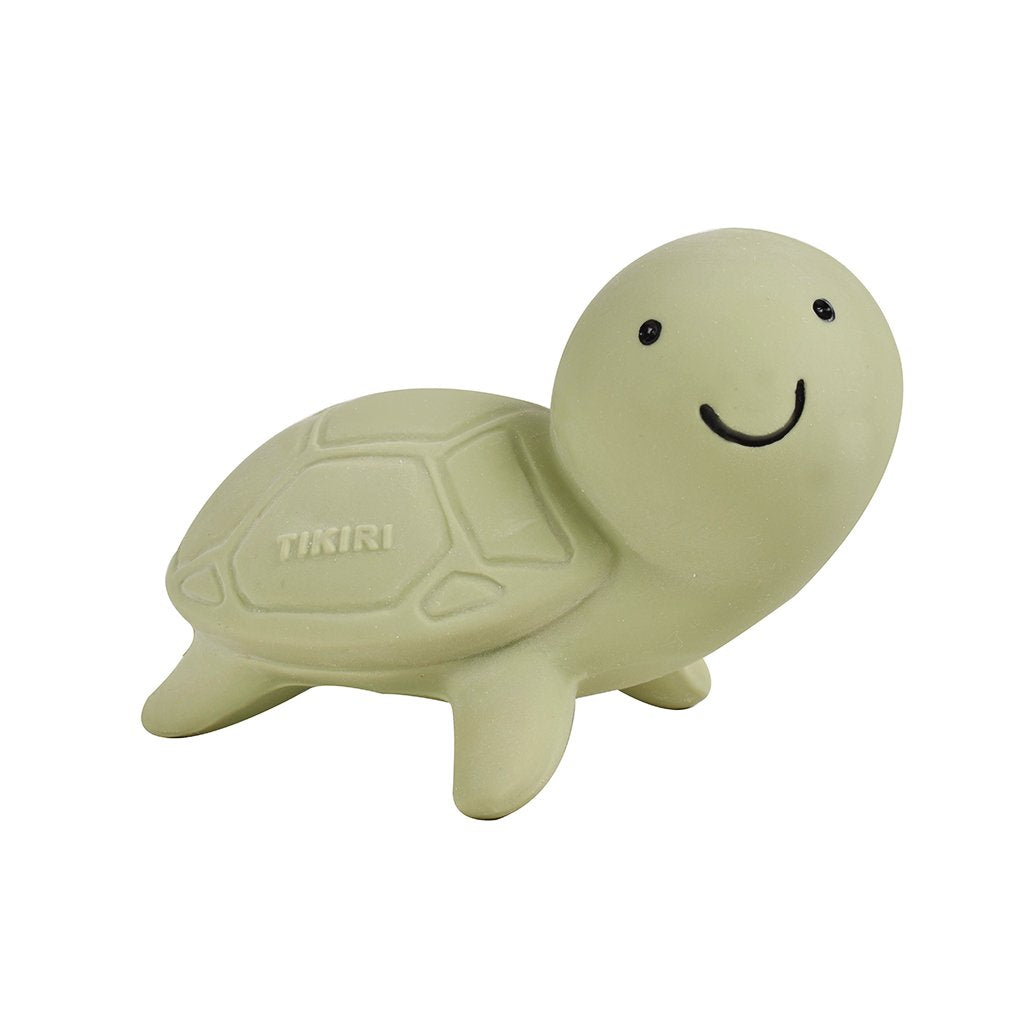 Turtle - Natural Rubber Baby Rattle & Bath Toy - Tikiri Toys