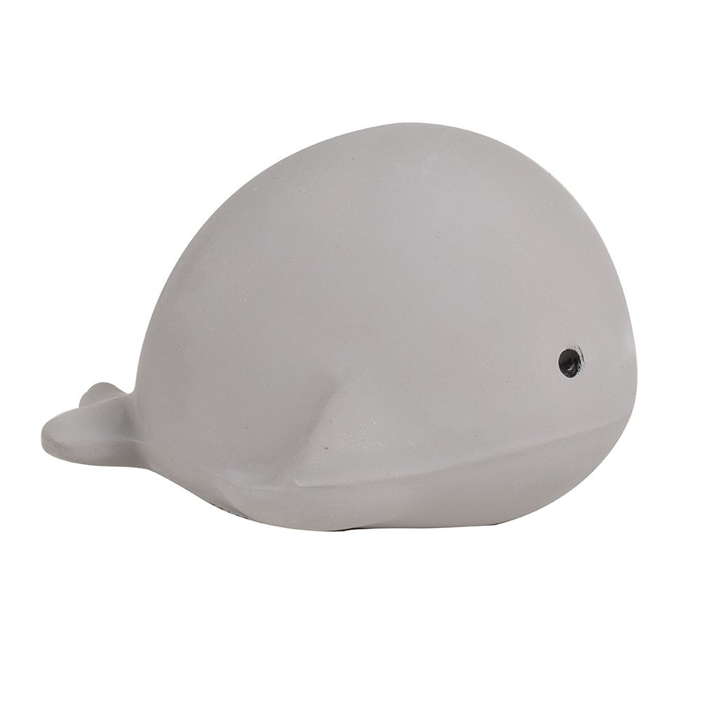 Whale - Natural Rubber Baby Rattle & Bath Toy - Tikiri Toys