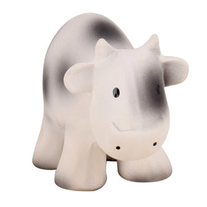 Cow - Natural Rubber Baby Rattle & Bath Toy - Tikiri Toys