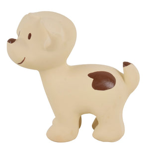 Puppy - Natural Rubber Baby Rattle & Bath Toy - Tikiri Toys