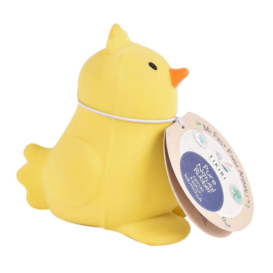 Chick - Natural Rubber Baby Rattle & Bath Toy - Tikiri Toys