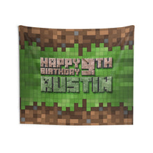 Load image into Gallery viewer, Minecraft Horizontal Birthday Banner
