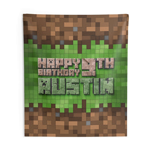 Minecraft Birthday Backdrop