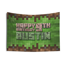Load image into Gallery viewer, Minecraft Birthday Banner