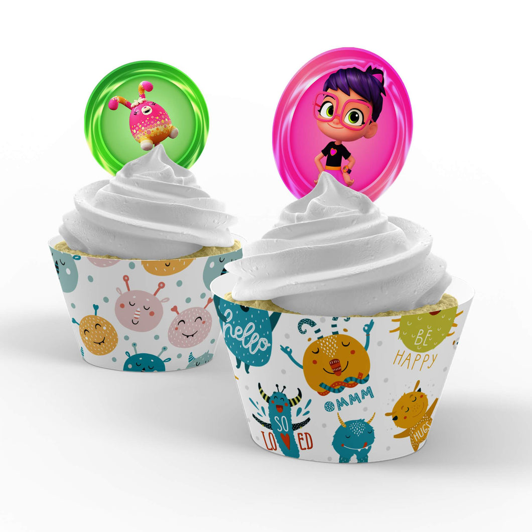 Abby Hatcher Cupcake Toppers - 1