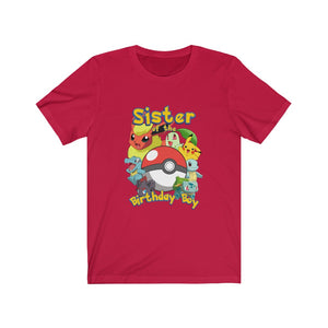 Pokemon Birthday Sister Family T-Shirt
