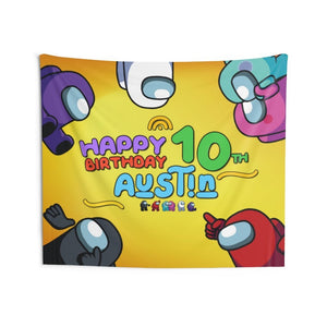 Among Us Birthday Banner Wall Tapestries - 7