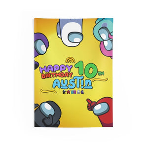 Among Us Birthday Banner Wall Tapestries - 2