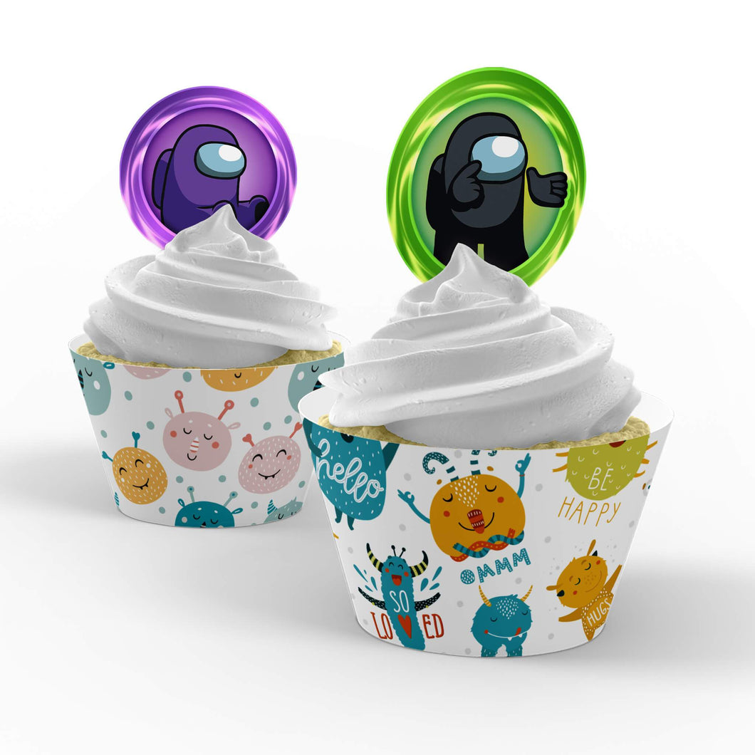 Among Us Cupcake Toppers - 1