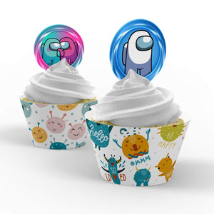 Among Us Cupcake Toppers - 2