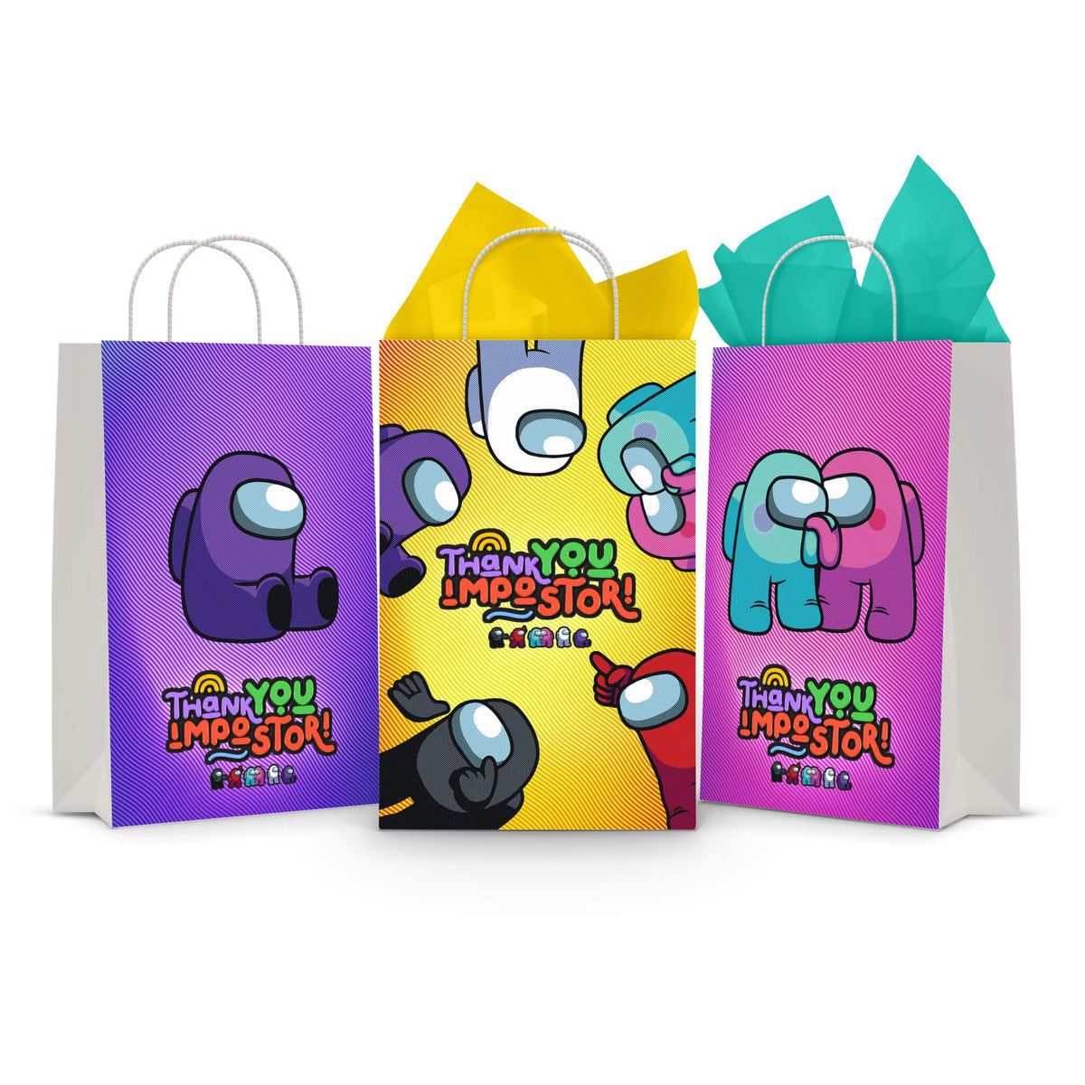 Newmemo Among Us Party Gift Bags 30pcs Plastic Goodies Candy Treat Snack Bag for Kids Among Us Theme Birthday Party Baby Shower Decoration Supplies Among Us Party Favors Among Us Gift Bag
