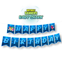 Load image into Gallery viewer, Baby Shark Birthday Banners - 1