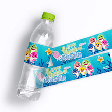 Load image into Gallery viewer, Baby Shark Birthday Water Bottle Labels - 2