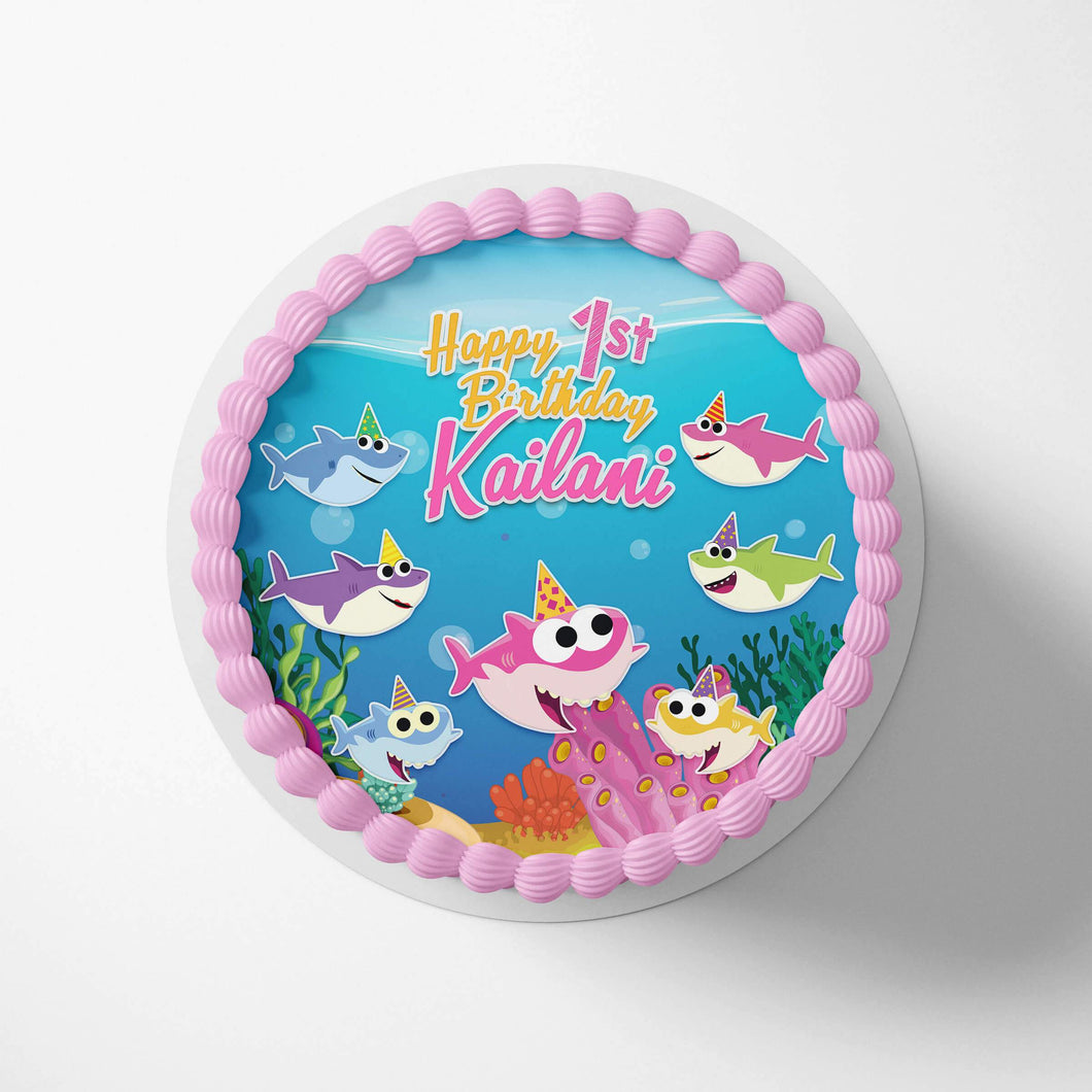 Baby Shark Girl Cake Toppers - 1