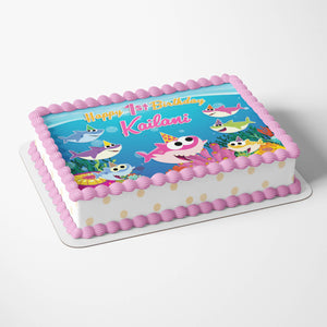 Baby Shark Girl Cake Toppers - 4