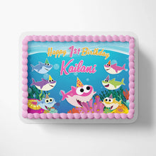 Load image into Gallery viewer, Baby Shark Girl Cake Toppers - 2